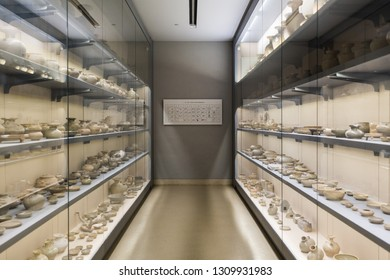Nanjing - March 26: Nanjing Museum on March 26, 2017 in Nanjing, China. Exhibiting porcelain from the Three Kingdoms, the Jin Dynasty and the Northern and Southern Dynasties.