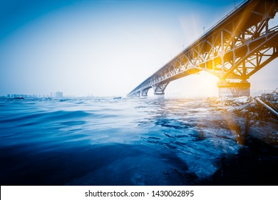 The Nanjing Yangtze River Bridge is a double-decked road-rail truss bridge across the Yangtze River.Located at Nanjing city,Jiangsu province, China,Asia.