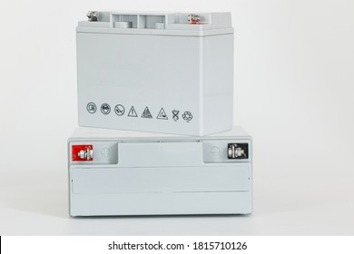 Nanoscale Gel Deep cycle battery on white background