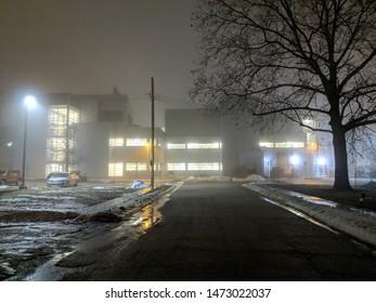 Nanotechnology Research Center Night Foggy Sinister