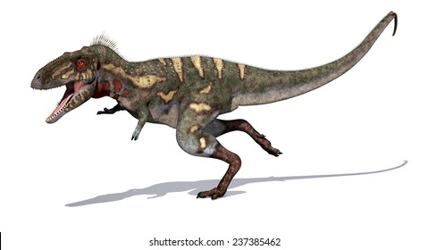 The Nanotyrannus dinosaur is a close relative of the Tyrannosaurus Rex; it lived during the Cretaceous Period - 3d render.