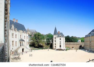 NANTES, France – August, 18, 2018 : Castle of the Dukes of Brittany (Chateau des Ducs de Bretagne) in Nantes, France