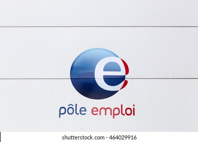 Nantes, France - June 25, 2016: Pole emploi is a French governmental agency which registers unemployed people, helps them find jobs and provides them with financial aid