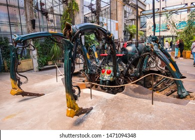 Nantes, France - May 12, 2019: The mechanical Spider in Hangar des Machines is part of the Machines of the Isle of Nantes, France