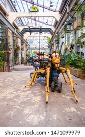 Nantes, France - May 12, 2019: The Giant Ant in Hangar des Machines is part of the Machines of the Isle of Nantes, France