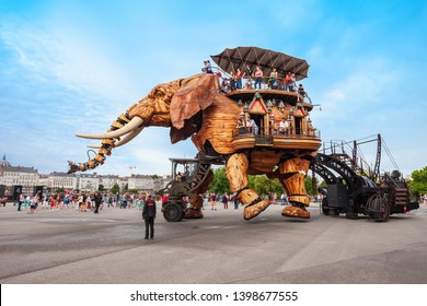 NANTES, FRANCE - SEPTEMBER 16, 2018: Machines of the Isle of Nantes is a artistic, touristic and cultural project based in Nantes, France
