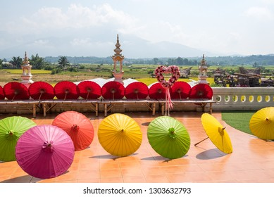 Nan,Thailand - October 8, 2018 : View of decorated at Wat Sri Mong Kol, A Thai temple in Nan province - northern of Thailand.