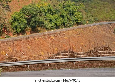 NAN-THAILAND-JANUARY 10 : View of nature on the high mountain way, January 10, 2019 Nan Province, Thailand