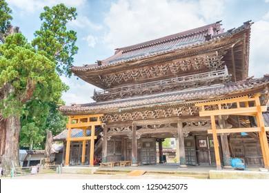 Nanto, Japan - Jul 31 2017- Johanabetsuin-Zentokuji Temple in Nanto City, Toyama Prefecture, Japan. a famous historic site.