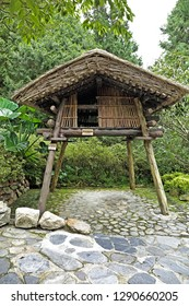 Nantou City, Taiwan - July 15 , 2017 :Rukai Gramary at Taiwan Aboriginal houses at Formosan Aboriginal Culture Village in Taiwan.