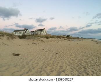 Nantucket beach in fall