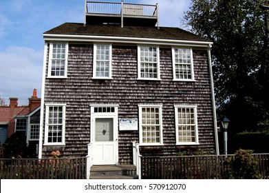 Nantucket, Massachusetts - October 12, 2008:   Vestal Street birthplace of Maria Mitchell (1819-1889), America's first woman astronomer