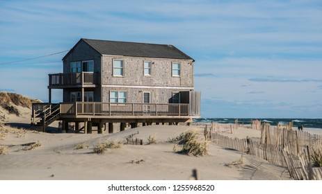 Nantucket, New England style wooden house