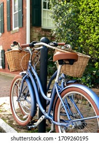 Nantucket, USA - May 2019. Many hotels (such the White Elephant Inn) lend bikes to their guests, enabling them to discover the island at their own pace.