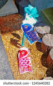 Nanzoin Temple ,Sasaguri ,Fukuoka ,Kyushu ,Japan - May 7th, 2018 : Koinobori carp streamers is Japanese carp windsocks or carp banners in Children's Day which is traditional Tango no sekku event.