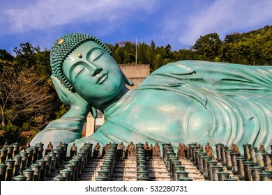 nanzo-in Temple Shingon sect Buddhist temple in Sasaguri, Fukuoka Prefecture, Japan.bronze statue of a reclining Buddha the largest bronze statue in the world