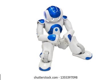 Nao robot, autonomous programmable humanoid robot. isolated on white background