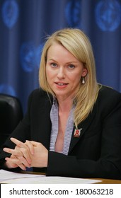 Naomi Watts at the press conference for Joint United Nations Program on AIDS, UNAIDS, naming her Special Envoy, The United Nations, New York, NY, May 15, 2006