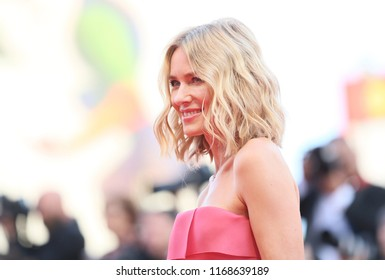 Naomi Watts walks the red carpet ahead of the opening ceremony during the 75th Venice Film Festival at Sala Grande on August 29, 2018 in Venice, Italy.