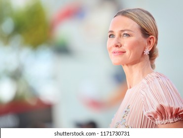 Naomi Watts walks the red carpet ahead of the 'Roma' screening during the 75th Venice Film Festival at Sala Grande on August 30, 2018 in Venice, Italy.