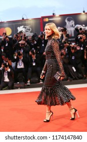 Naomi Watts walks the red carpet ahead of the 'At Eternity's Gate' screening during the 75th Venice Film Festival at Sala Grande on September 3, 2018 in Venice, Italy.