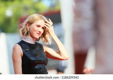 Naomi Watts walks the red carpet ahead of the 'The Nightingale' screening during the 75th Venice Film Festival at Sala Grande on September 6, 2018 in Venice, Italy.