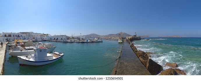Naoussa village and harbor - Aegean Sea - Paros Cyclades island - Greece