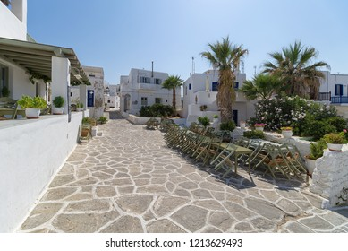 Naoussa village houses - Cyclades island - Paros - Greece