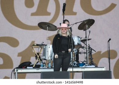 NAPA, CA - MAY 25, 2019:  Elle King and The Brethren in concert at BottleRock Napa Valley in Napa, CA