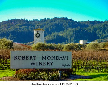 Napa, CA / USA - View of the Robert Mondavi winery in Napa