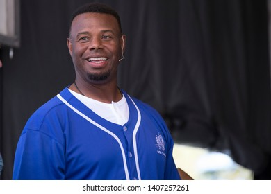 Napa, CA/USA: 5/24/19: Ken Griffey Jr. speaks at BottleRock. A former professional baseball outfielder who played 22 years in Major League Baseball (MLB) for the Mariners, Reds, White Sox.