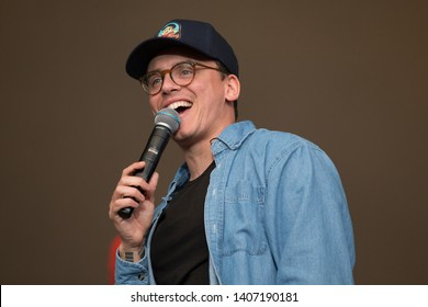 Napa, CA/USA: 5/24/19: Sir Robert Bryson Hall II aka Logic performs at BottleRock in Napa. He's an American Grammy nominated rapper. In 2019 he released his 5th album Confessions of a Dangerous Mind.