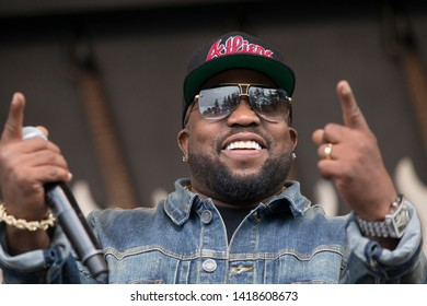 Napa, CA/USA: 5/26/19: Big Boi aka Antwan André Patton speaks to the crowd at BottleRock. He's is a rapper, songwriter, actor and record producer best known for being part of the hip hop duo Outkast.
