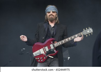 Napa, CA/USA: 5/27/17: Tom Petty and the Heartbreakers headline the sold out BottleRock day 2 in Napa, California.  Tom has won several Grammy Awards as well as MTV Video Awards.