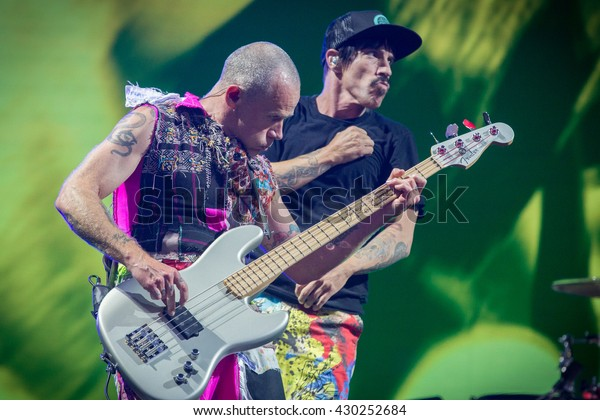 Napa, CA/USA - 5/29/16: Red Hot Chili Peppers perform at BottleRock 2016 in Napa, Ca.