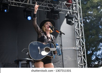 Napa, CA/USA - 5/30/15: Zsuzsanna Eva aka ZZ Ward performs at BottleRock Napa Valley. Her music has appeared on Veronica Mars, Pretty Little Liars, Shameless, and The Good Wife.