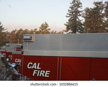 Napa fire Cal fire trucks
