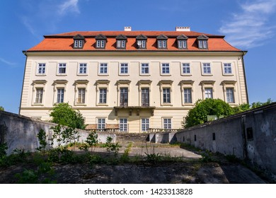 Napajedla baroque castle near Zlin, Moravia, Czech Republic, sunny summer day