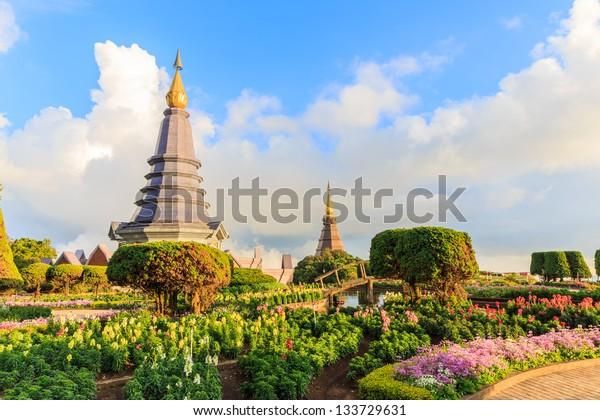 Naphapholphumisiri che-di, doi inthanon national park, chiang mai, thailand.