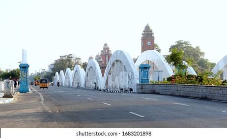 Napier Bridge In Marina Beach Chennai