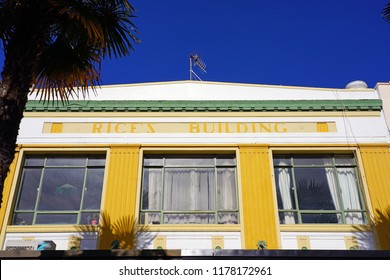 NAPIER, NEW ZEALAND -2 AUGUST 2018- Entirely rebuilt after the devastating 1931 Hawke's Bay earthquake, Napier is considered the Art Deco capital of the world.
