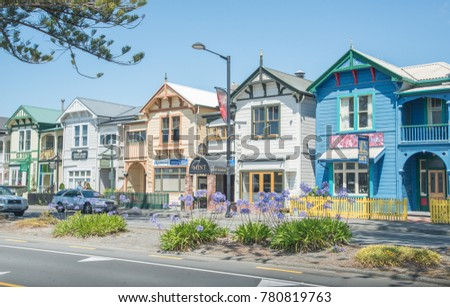napier new zealand december 252017 colourful house stock photo edit