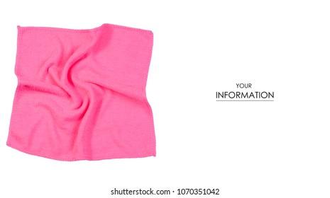 Napkin microfiber pink pattern on a white background isolation