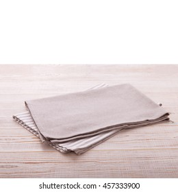 napkin on table in perspective