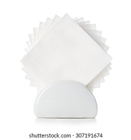 Napkins in a stand