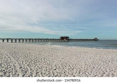 Naples Beach and Pier, Florida, USA