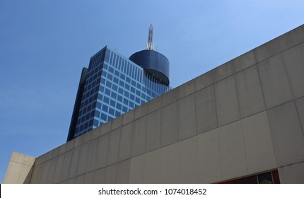 NAPLES, CITY OF MEXICO, MEXICO, MARCH 24 OF 2018; VIEW TO THE BUILDING OF OFFICES AND CONVENTIONS KNOWN AS WORLD TRADE CENTER IN THE CAPITAL OF THE MEXICAN REPUBLIC IN MARCH.