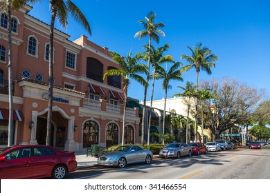 Naples, Florida - May 5th 2014 - The main street in Naples during a sunny week day in Naples Beach in Florida, USA.