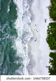 Naples Florida old pier aerial view