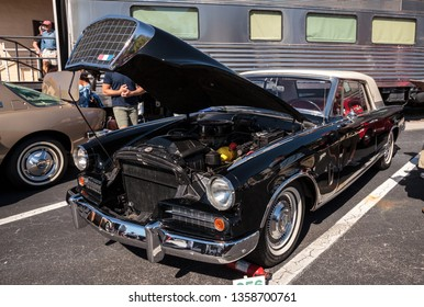 Naples, Florida, USA – March 23,2019: Black 1963 Studebaker Hawk at the 32nd Annual Naples Depot Classic Car Show in Naples, Florida. Editorial only.